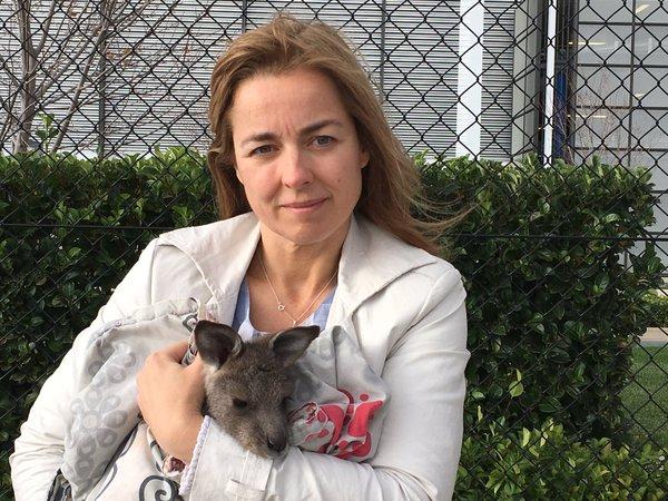 Marianne met kangoeroe